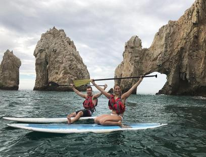 SUP at the Arch in Cabo